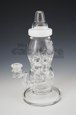 High Tech Glass Cheese Perc Baby Bottle 14 MM F