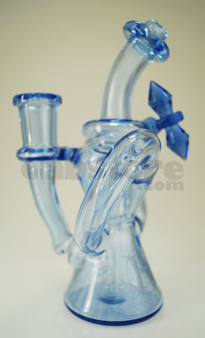 Huffy Glass - Blue Dream Dual Arm Trophy Recycler 14 mm F
