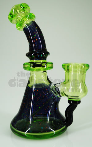 Huffy Glass - Haterade/Crushed Opal 14 MM F Bent Neck Micro