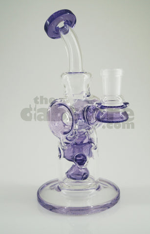 Logjam Glass - Purple Lollipop l Swiss Stack 14 MM F