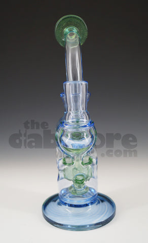 Logjam Glass - Swiss Stack Illuminati, Raindrop, & Green Stardust 14 MM F