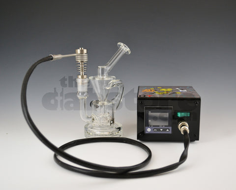 Pyrology Glass D-Cycler Recycler & Enail Package Deal 14 MM F