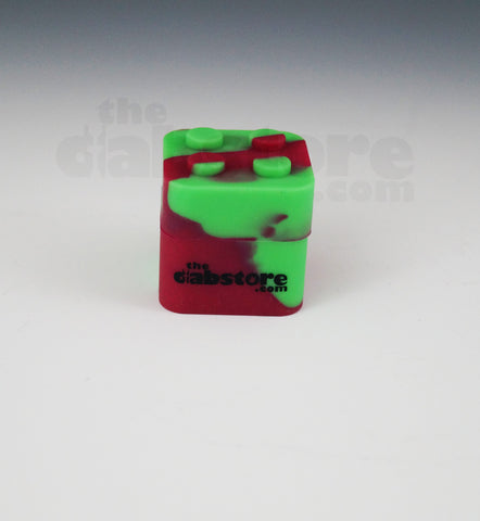 Red/Green Colored Silicone Lego Block Non Stick Container 1 count