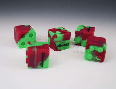 Red/Green Colored Silicone Lego Block Non Stick Container