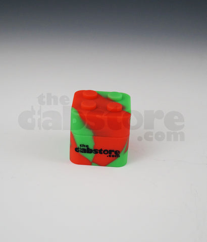 Orange/Green Colored Silicone Lego Block Non Stick Container