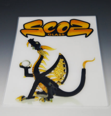 Scoz Glass Dragon Dab Mat
