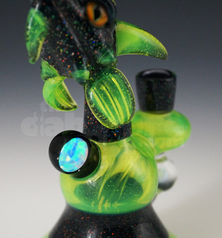 Slyme and crushed opal 10 MM Dragon Lord Rig by Scoz Glass
