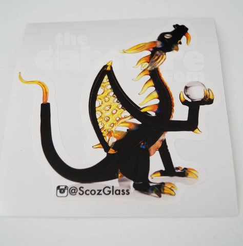 3 x Scoz Dragon Stickers