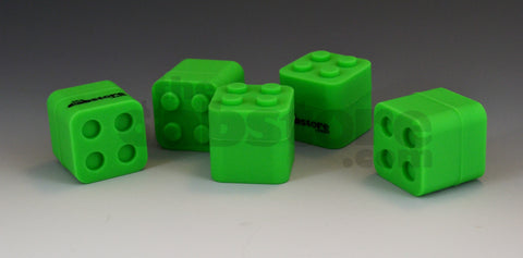 5 green silicone dab block jars