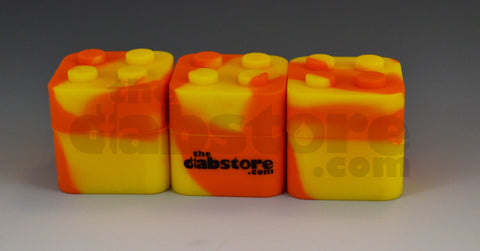 3 pack silicone lego block container