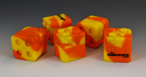 Orange & Yellow Silicone Lego Block Non Stick Container