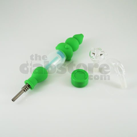 Silicone Nectar Collector Kit with Bubbler Attachment (Green)