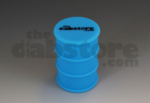 Silicone Oil Barrel Jar non stick blue