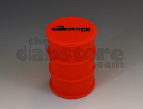 Silicone Oil Barrel Wax Jar no stick red