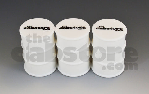 3 Pack silicone oil barrel wax jars