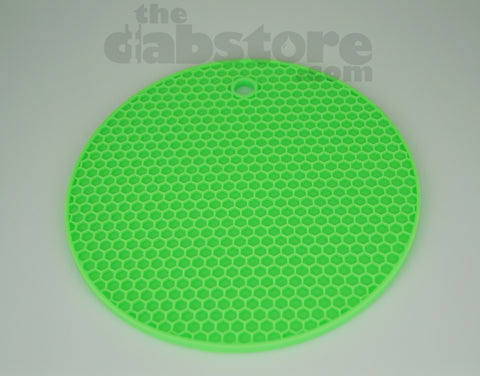 Green Silicone Honey Comb Dab Mat