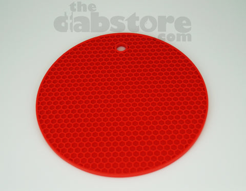 Red Silicone Honey Comb Dab Mat