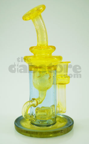 Topher Glass - 10 MM Lemon Drop / Dingle Berry Micro Klein