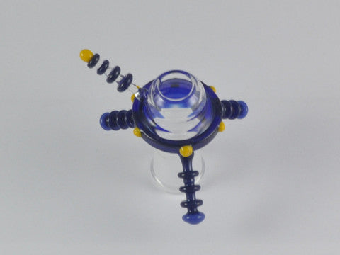 "Engler Glass ""Spaceship"" Dome 18 mm Blue #2"