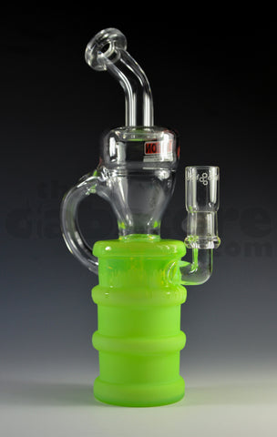 High Tech Glassworks Slyme Oil Barrel Recycler Diffusion Pump 14 MM