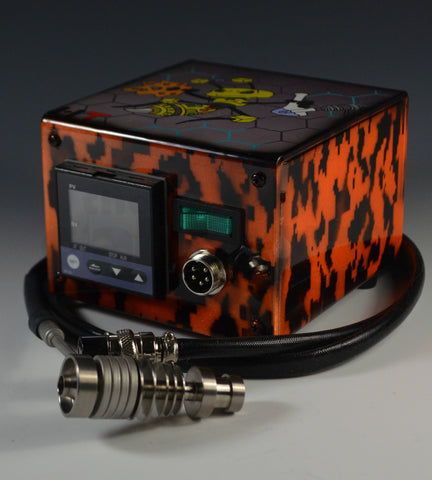 High Tech Titanium Mini Honey Highve Custom Enail (Digital Orange Camo)