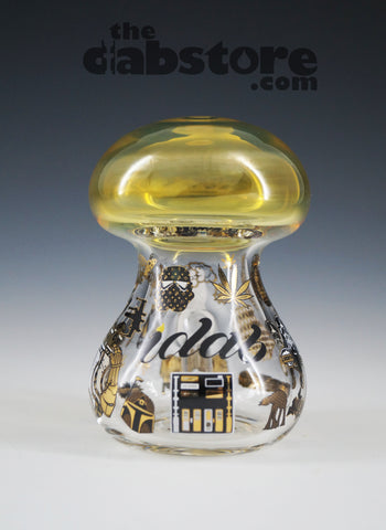 iDab Glass - 10 MM Male Gold Fumed Team Deathstar Shroom Rig