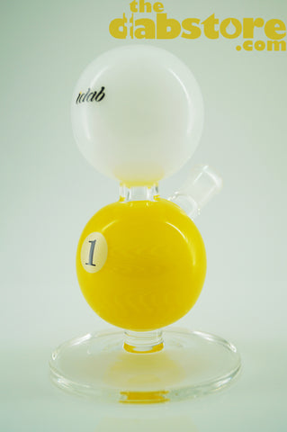 iDab Glass - 14 MM F Pool Ball Rig Yellow