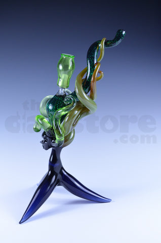 LaceFace Glass Goddess Mini Tube w/ Matching Pendant #2 10 MM