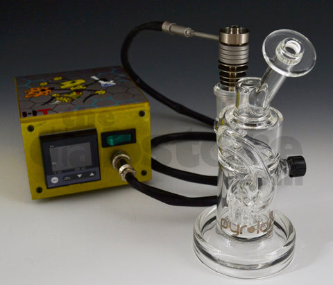 Pyrology Glass Recycler & Enail Package Deal 18 MM F