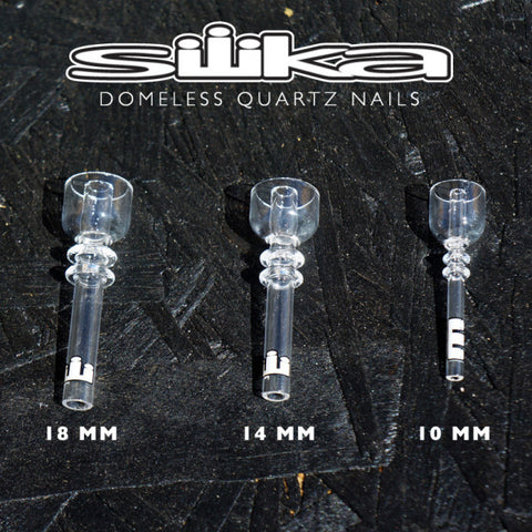 Silika Quartz Domeless Nail - Available in 14 MM or 18 MM