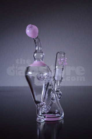 Wicked Sands Glass Cadillac Pink Recycler 14 MM
