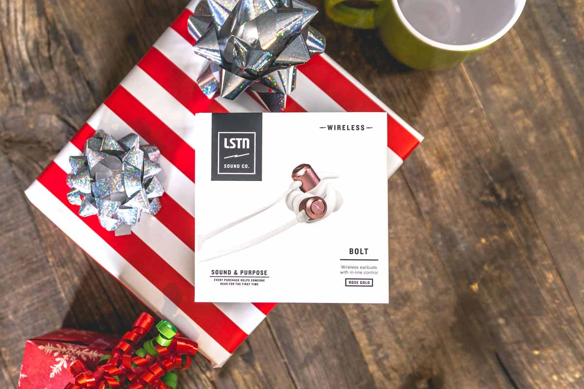 lstn sound wireless bolt fitness earbuds for corporate gifts and holiday gifts
