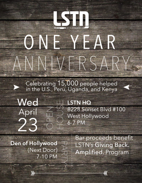 Invite lstn headphones 1 year anniversary party lstn sound co invite lstn headphones 1 year anniversary party stopboris Image collections