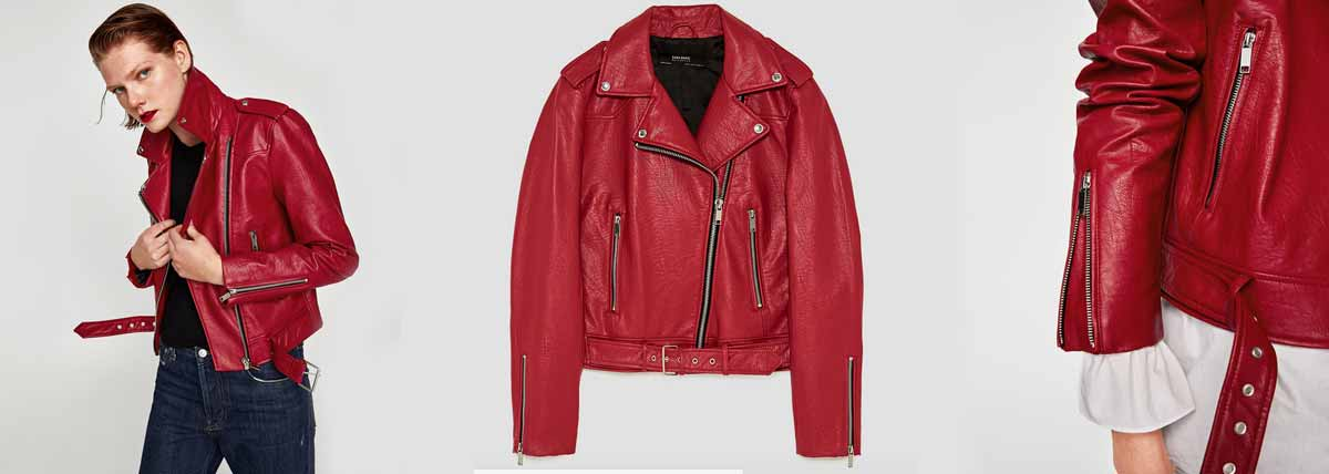Leather Effect Jacket by Zara