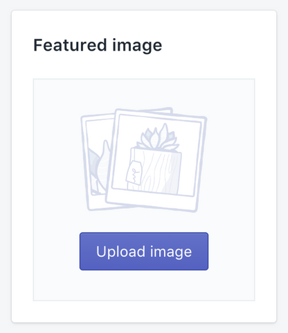 Featured Image Upload Section