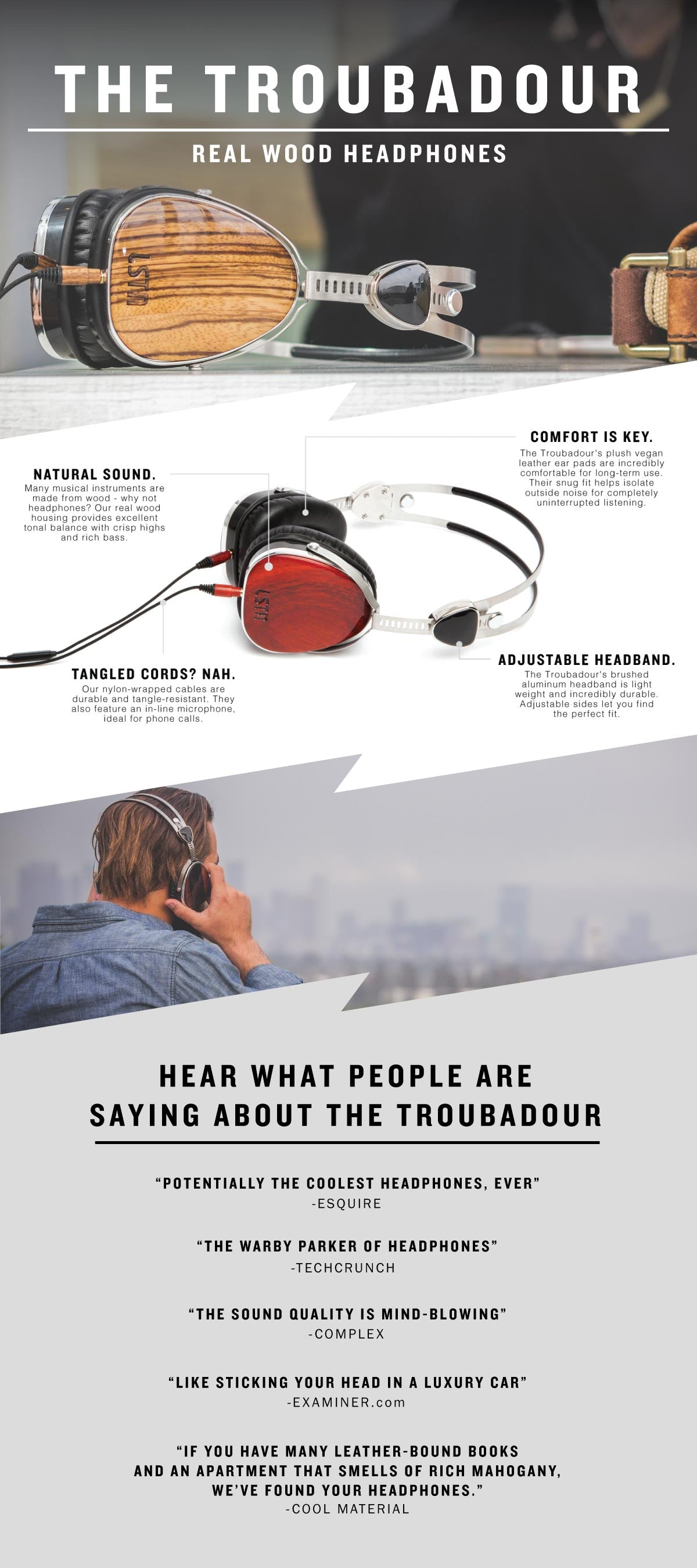 lstn headphones troubadour infographic