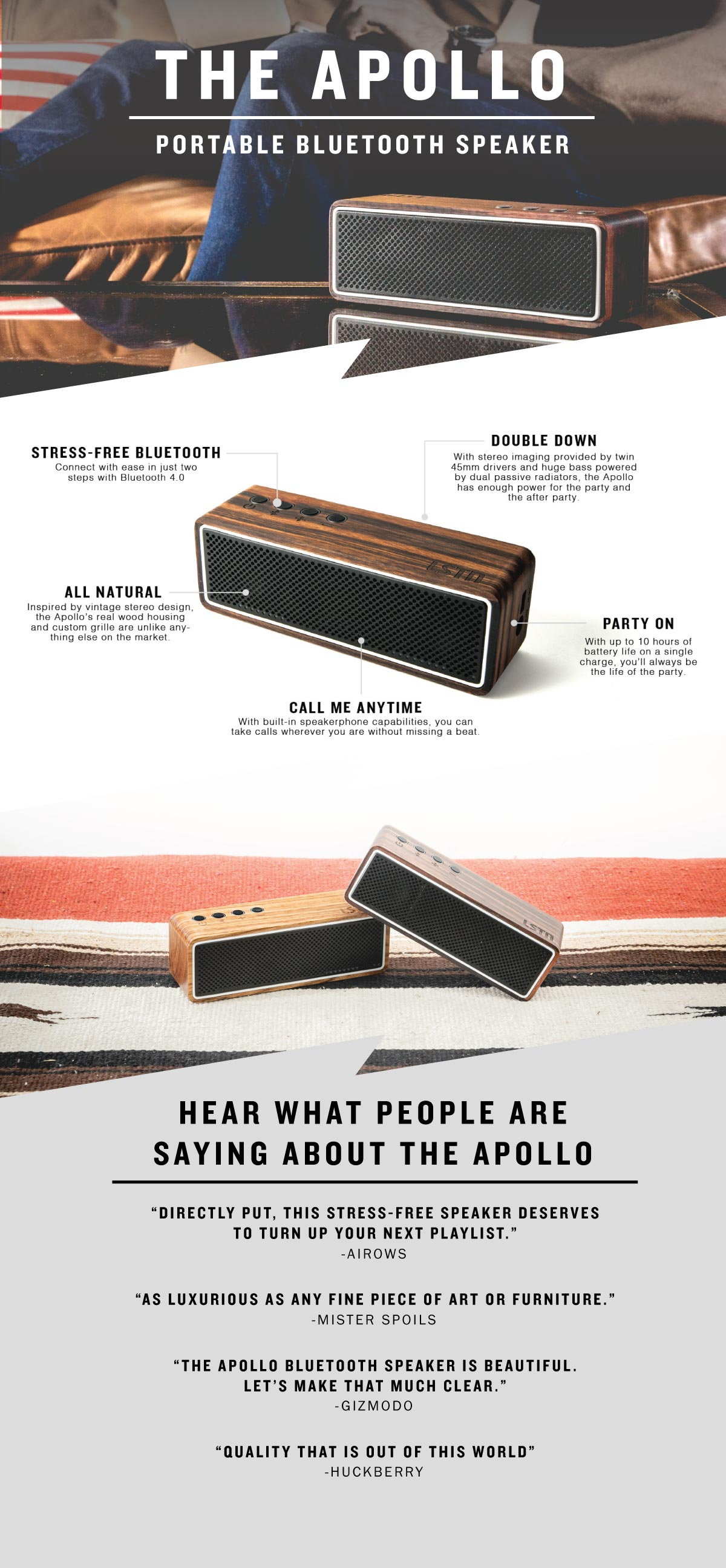 apollo infographic bluetooth speaker infographic lstn apollo speaker details