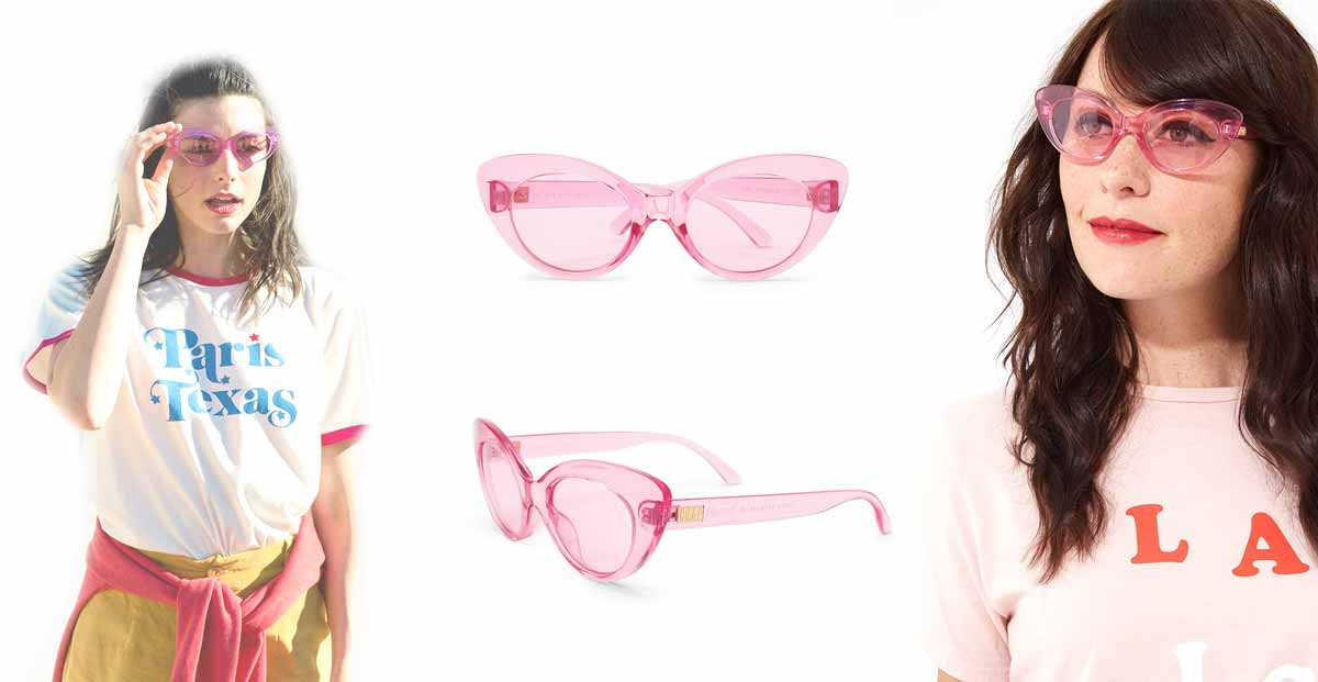 cool girl pink Sunglasses by bando and crap eyewear