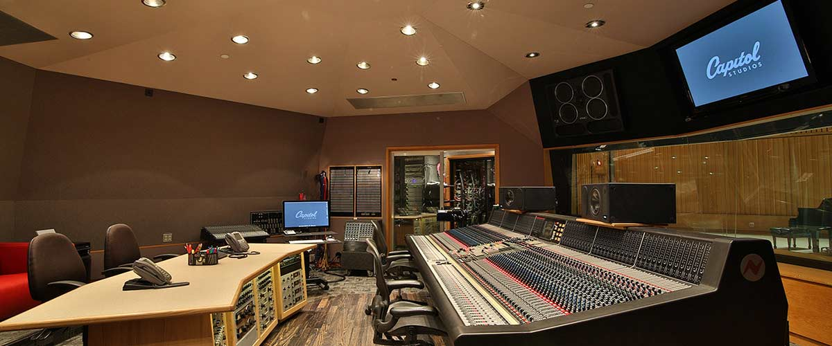 Studio 1 Control Room at Capitol Records