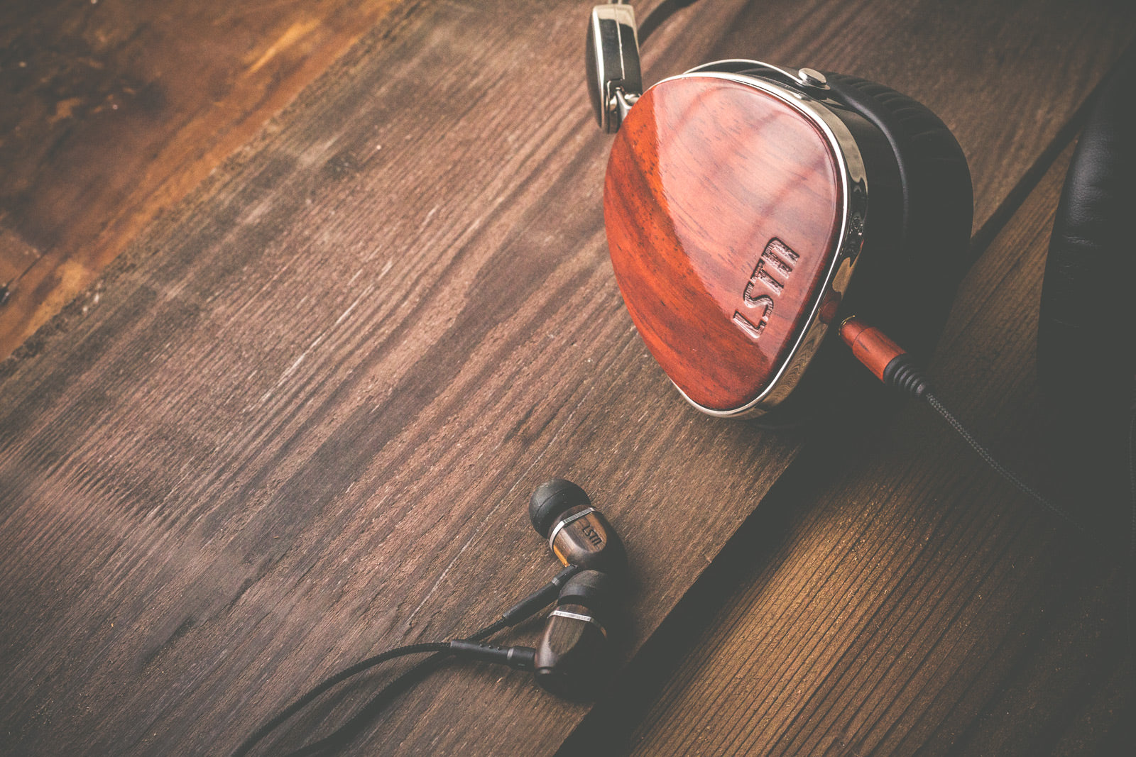 lstn sound wood earbuds and headphones for corporate gifts and holiday gifts