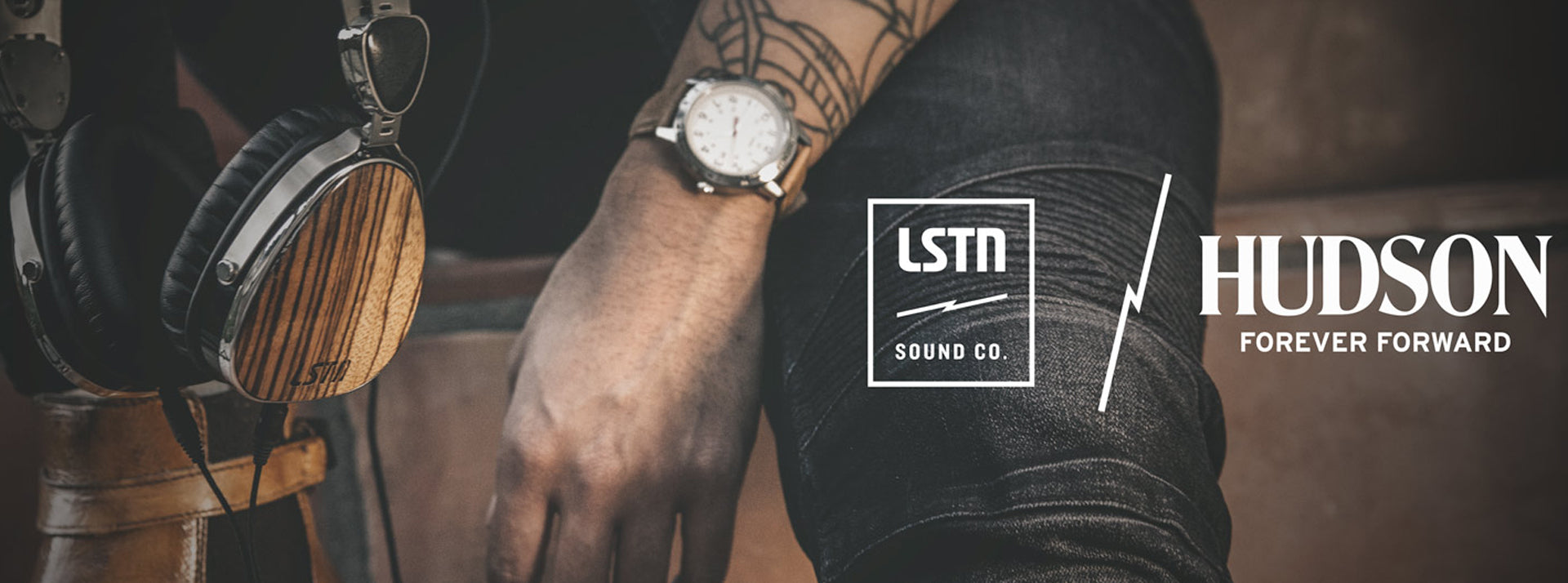 hudson jeans lstn sound holiday collab 2015