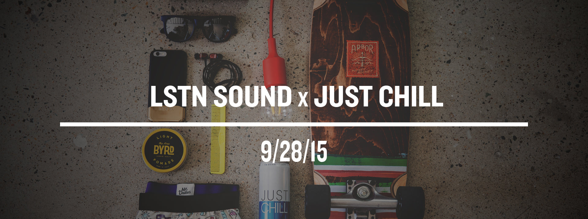 Just Chill Beverages and LSTN Sound Co Headphones, Earbuds