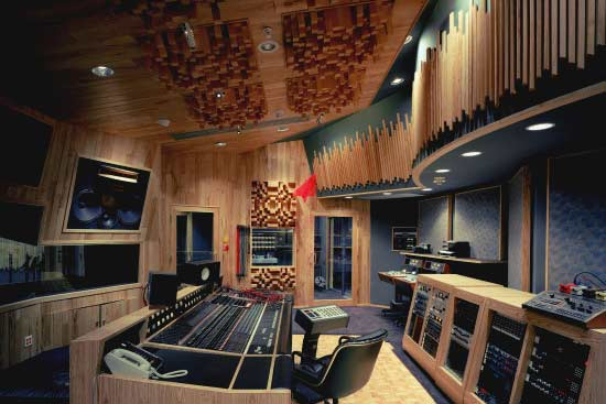 A control room at Paisley Park