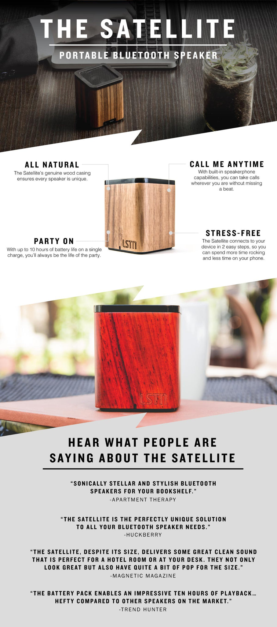 Satellite Bluetooth Mini Speaker Reviews + Infographic