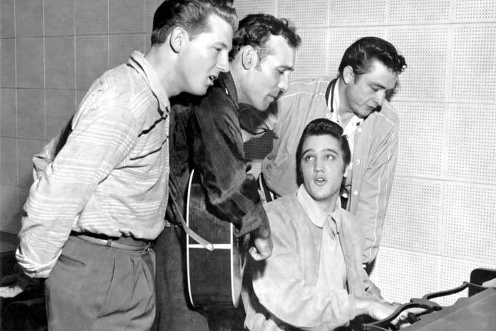 The Million Dollar Quarter: Elvis Presley, Johnny Cash, Jerry Lee Lewis and Carl Perkins at Sun Studios