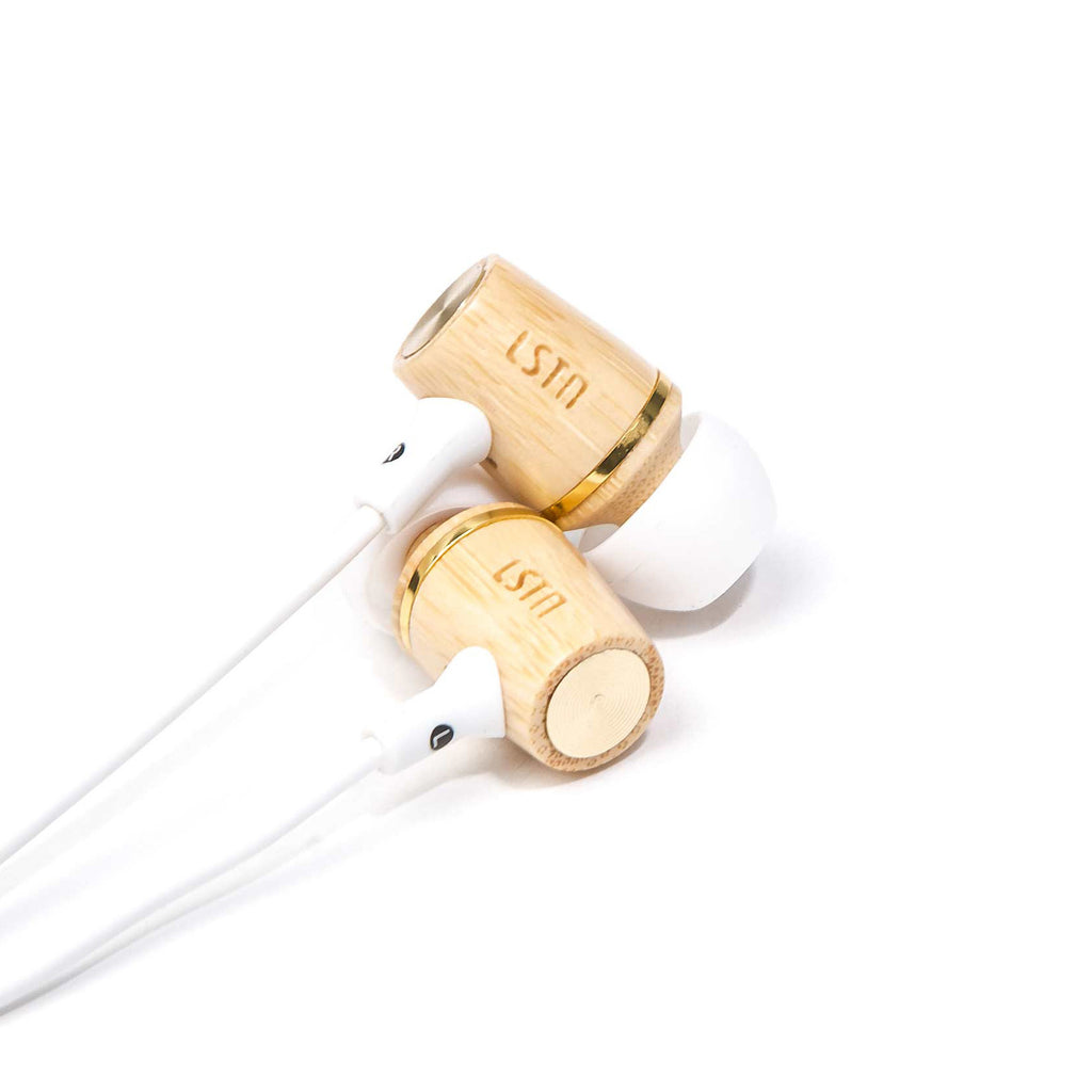 Bamboo Wembley Earbud w/ volume control