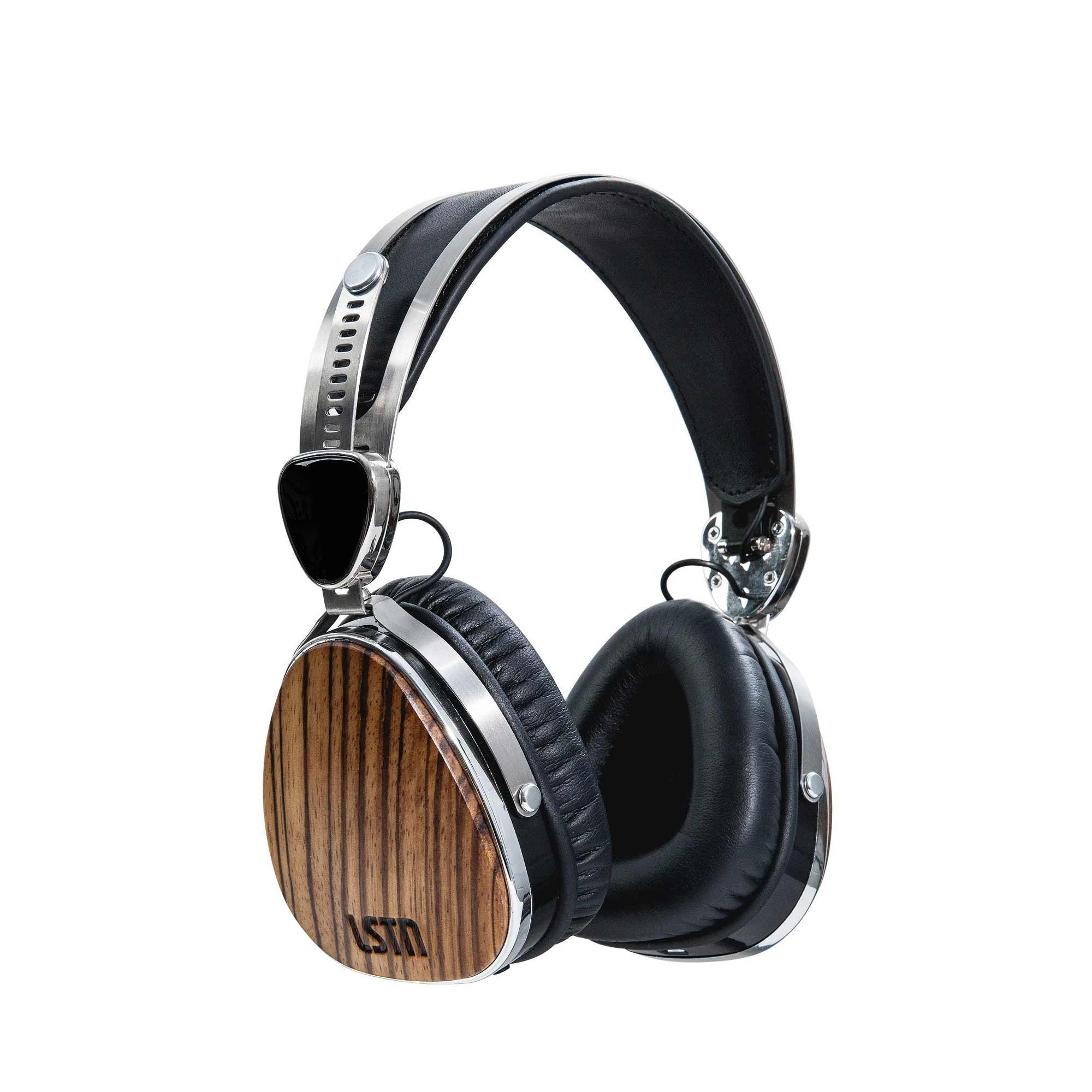 Wireless Zebra Wood Troubadours On-Ear Wood Headphones – LSTN Sound Co