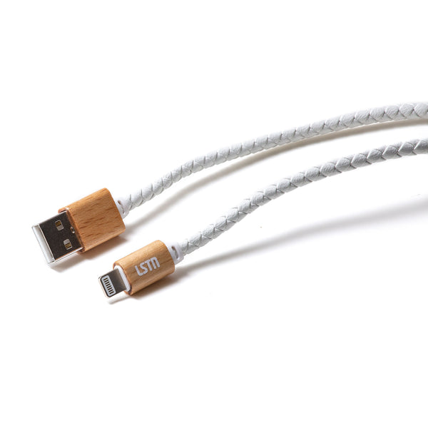 Premium Lightning Cable in Beech