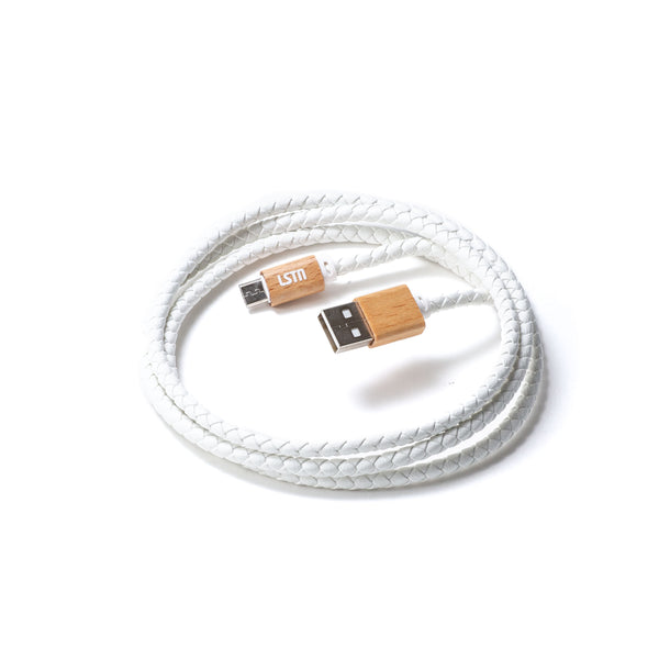 Premium Micro-USB Cable in Beech