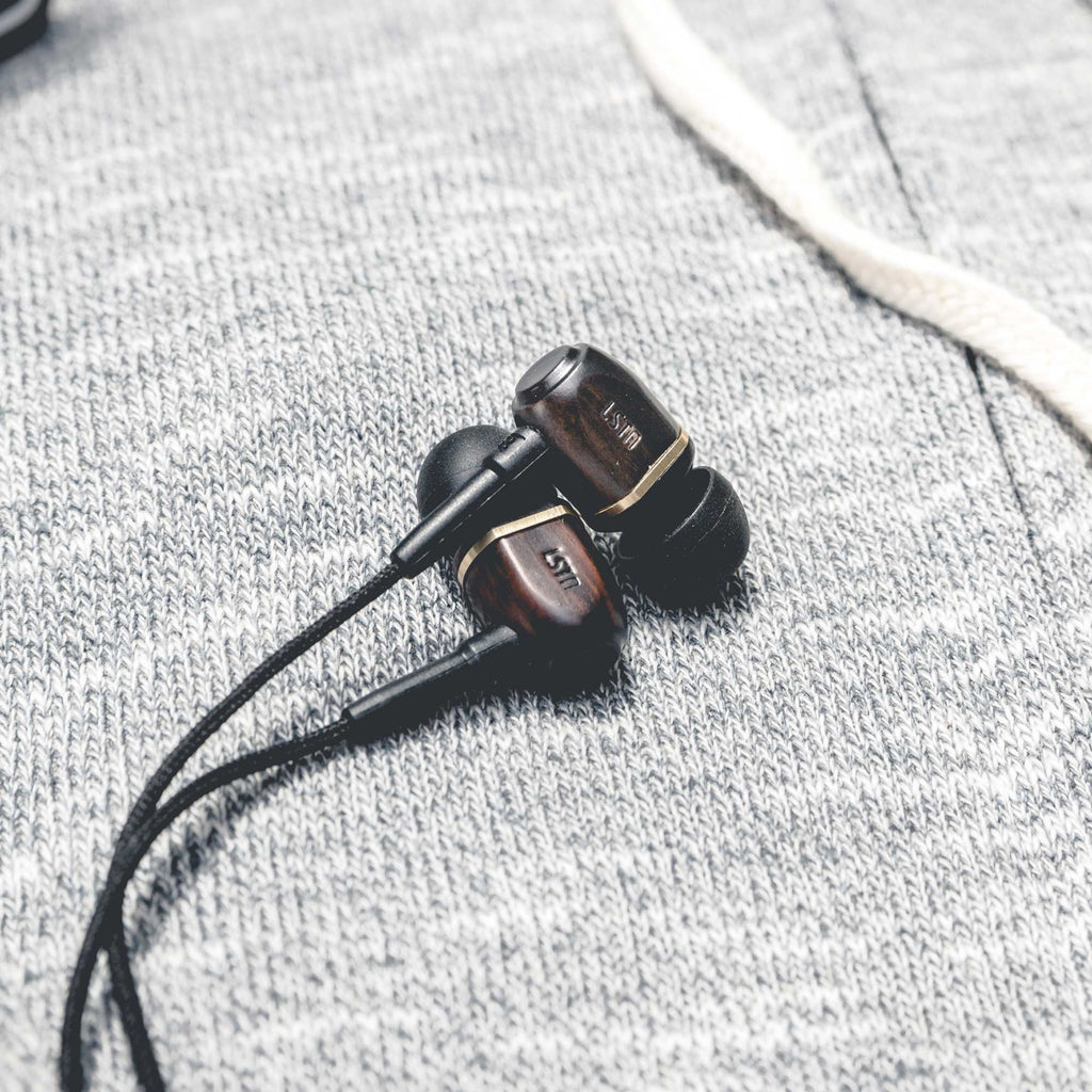 Ebony Bowery Earbuds w/ mic - Sample